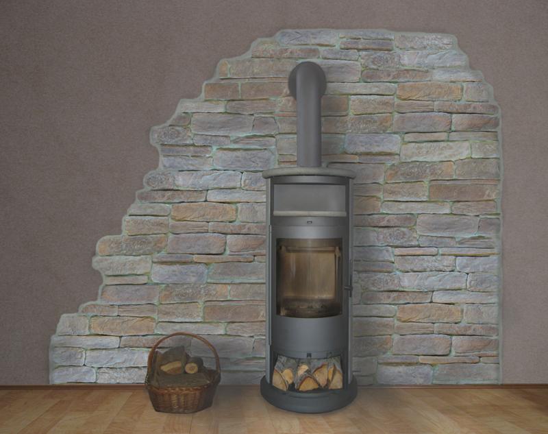 stein design schmitt - cabrera - Verblendsteine Wohnzimmer Grau