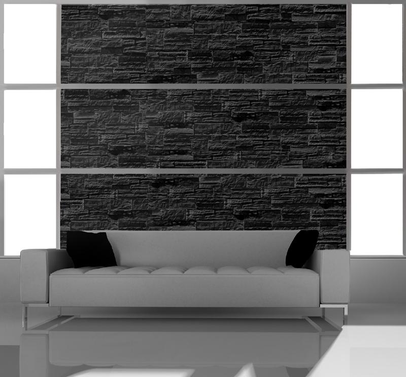 stein design schmitt - nevada - Verblendsteine Wohnzimmer Grau